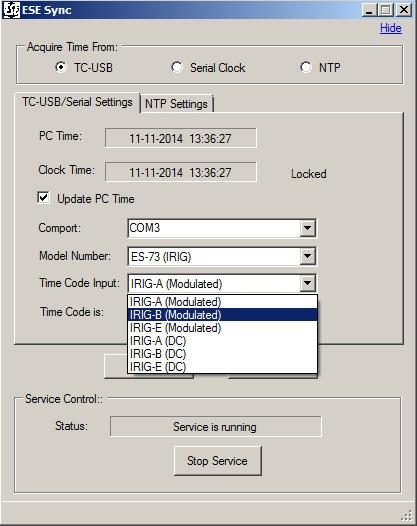 ES-73 ESE Sync software