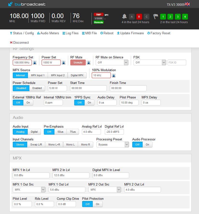 TX600v3 画面サンプル